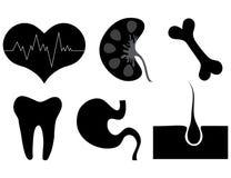 Medicinska symboler. Arkivbild