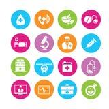Medicinska symboler royaltyfri illustrationer