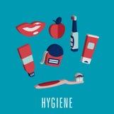 Medicinska symboler för tand- hygien i 3D royaltyfri illustrationer