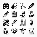 Medicinska symboler på vit Royaltyfria Bilder
