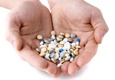 medicinska tablets Arkivfoto