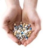 medicinska tablets Arkivbilder