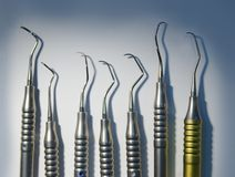 medicinska tand- instrument arkivbilder
