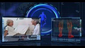 Medicinska video av kirurger och doktorer stock video