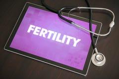 Medicinskt begrepp för fruktsamhet (släkt menstruations- cirkulering) diagnos på royaltyfri fotografi