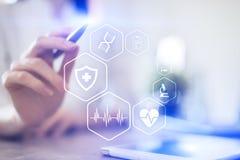 MEDICINSKT begrepp Vård- skydd Modern teknologi i medicin arkivbilder