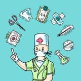 Medicinskt designbegrepp Arkivbild