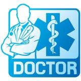 Medicinskt doktorssymbol Arkivfoto
