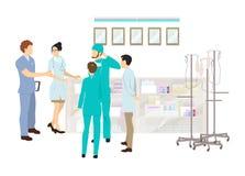 Medicinskt kontor i sjukhuset royaltyfri illustrationer