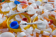 Medicinskt plastic avfall Royaltyfri Fotografi