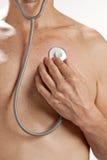 medicinskt självstetoskop för hjärta Arkivbilder
