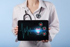 Medicinskt sjukvårdbegrepp - symbol av medicininnovationmedien arkivbild