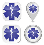 Medicinskt symbol av nödläget Royaltyfri Foto