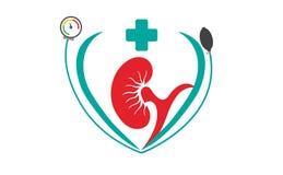Medicinskt unikt symbol stock illustrationer