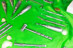 Medicinutrustning, tand- instrument och hjälpmedel fotografering för bildbyråer