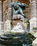 Medicis springbrunn i Luxembourg trädgårdar royaltyfria foton