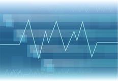Medicle-Herzfrequenz vecto Hintergrundgesundheitswesen stockbild