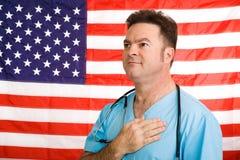 Medico americano patriottico Fotografia Stock Libera da Diritti