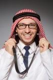 Medico arabo divertente fotografia stock libera da diritti