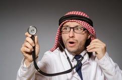 Medico arabo divertente fotografie stock libere da diritti