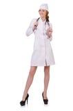 Medico attraente della donna Fotografie Stock