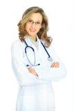 Medico attraente della donna Fotografie Stock Libere da Diritti