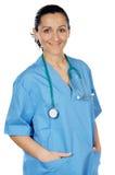 Medico attraente della signora Fotografie Stock