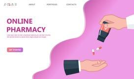Medico che dà a pillole concetto paziente illustrazione di stock