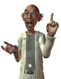 Medico che grida con la barretta alzata Fotografie Stock