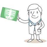 Medico che ostacola immagine dei raggi x royalty illustrazione gratis