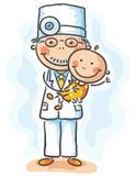 Medico che tiene un bambino Fotografie Stock
