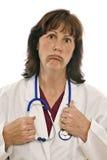 Medico completamente esaurito stanco Fotografia Stock Libera da Diritti