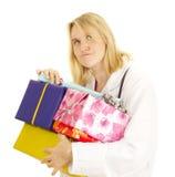 Medico con alcuni regali Fotografie Stock Libere da Diritti