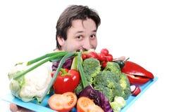 Medico con alimento Fotografia Stock Libera da Diritti