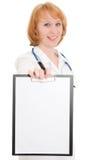 Medico con i appunti Fotografia Stock