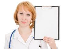 Medico con i appunti Fotografia Stock Libera da Diritti