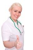 Medico con il pollice su Fotografie Stock