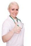 Medico con il pollice su Fotografia Stock Libera da Diritti