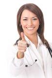 Medico con il pollice in su, isolato Fotografia Stock Libera da Diritti