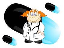 Medico con la capsula Fotografia Stock Libera da Diritti
