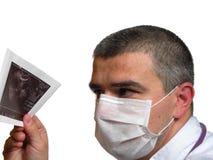 Medico con la ecografia Immagine Stock
