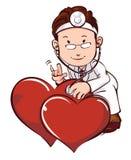 Medico con la sanità medica del cuore Fotografia Stock Libera da Diritti