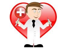 Medico con le iniezioni Immagini Stock