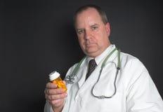 Medico con le pillole Fotografia Stock