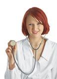 Medico con lo stetoscopio Immagine Stock Libera da Diritti