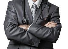 Medico con lo stetoscopio Immagini Stock Libere da Diritti