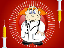Medico con lo stetoscopio Immagini Stock