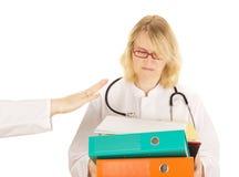 Medico con molto lavoro Fotografie Stock