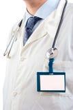 Medico con una modifica noma in bianco immagini stock libere da diritti