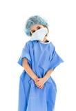 Medico del bambino nella priorità bassa bianca Immagine Stock